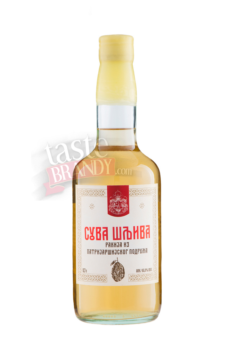 Dried Plums Brandy Serbian Orthodox Patriarchy Cellar 0.7 l